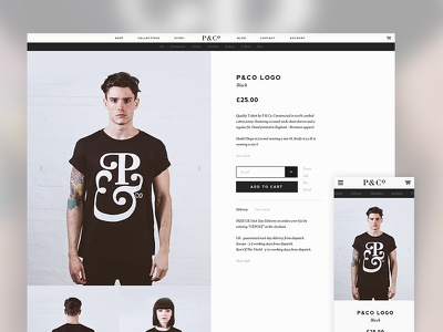 P&Co Clothing Website web clean simple minimal ecommerce fashion single product