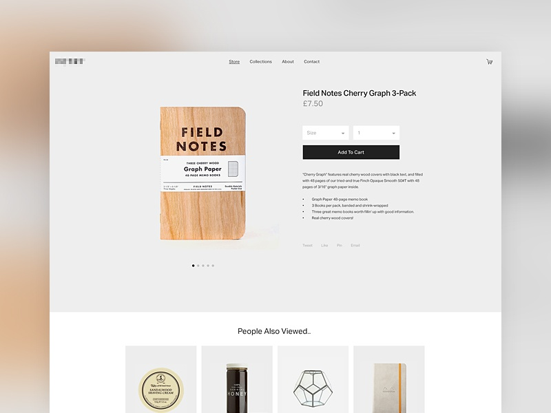 Single Product Template By Olly Sorsby Dribbble - Single product ecommerce template