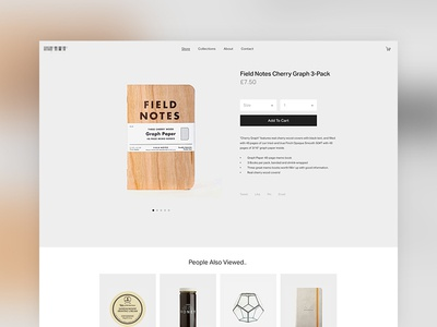 Single Product Template store shop ecommerce product single adaptable simple clean web