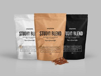 adaptable coffee kraft texture branding brand bag packaging mailer adaptable coffee