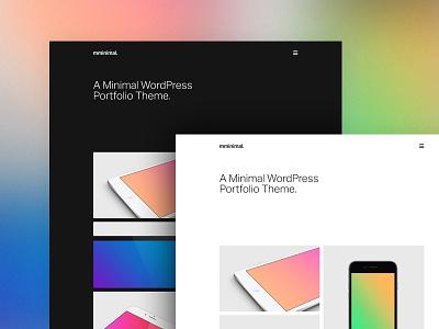 Minimal WordPress Theme theme wordpress typography minimal simple clean whitespace grid hero home ux ui