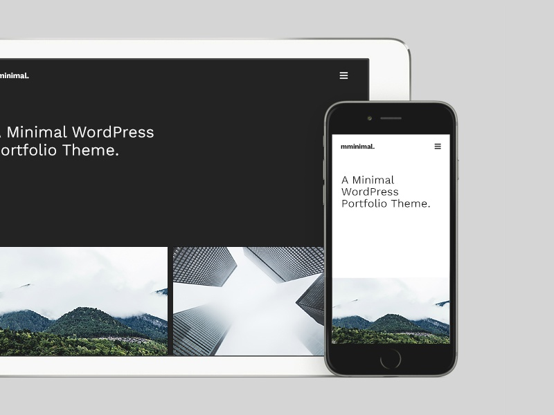 Minimal Wordpress Theme wordpress typography photography minimal simple clean whitespace grid hero home ux ui