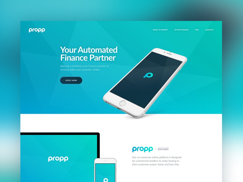 Propp UI typography minimal simple whitespace grid hero home ux ui