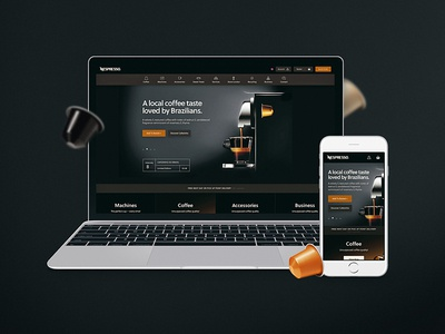 Nespresso Homepage UI ui simple rounded product nespresso home hero commerce concept coffee clean