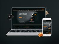 Nespresso Homepage UI