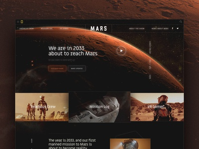 Mars — National Geographic noise tech future glow lines hero home ui nat geo national geographic space mars