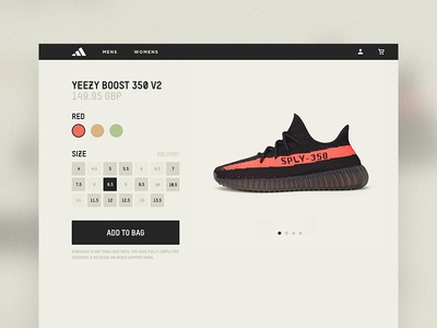 YEEZY Product Page