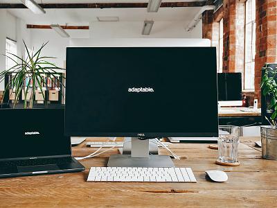 Workspace 2017 dell monitor agency design adaptable office studio work workstation setup desk workspace