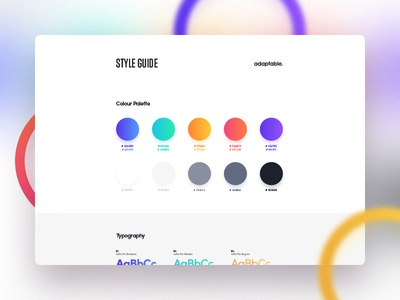 adaptable styleguide agency studio adaptable shadow gradient clean elements ui style guidelines guide styleguide