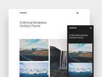 Minimal WordPress Theme ui ux home hero grid whitespace clean simple minimal typography wordpress theme