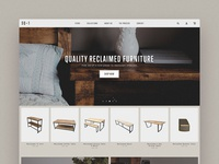 Reclaimed Furniture Homepage UI texture reclaimed wood furniture ui hero home commence shopify