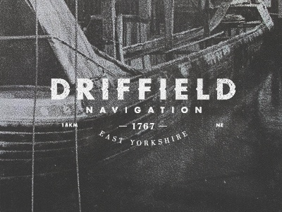 C025 Driffield Canal canal logo old vintage retro