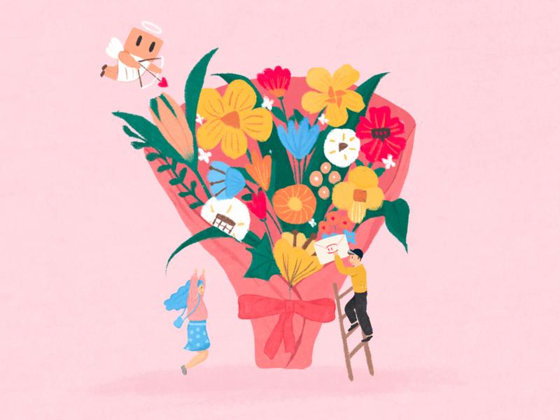 2.14 Valentine s Day mockingbot illustration valentine