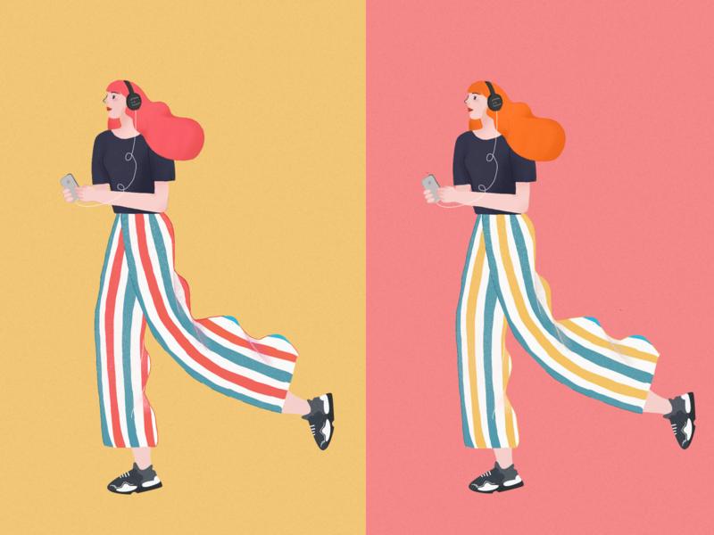 character girl illustration