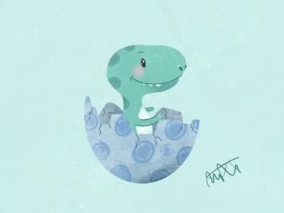 My little dinosaur illustration
