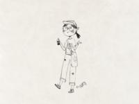A Girl Drinking Milk Tea