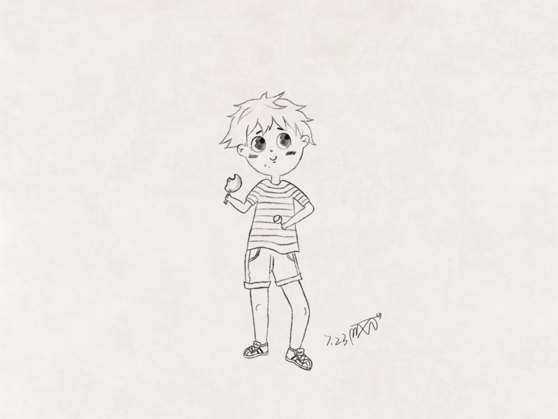 Little Boy boy illustration drawing