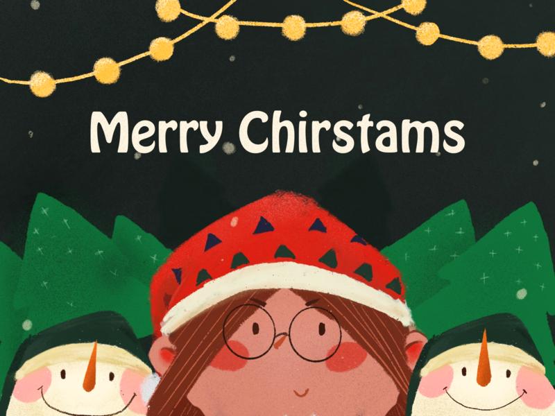 Merry Christmas christmas illustration