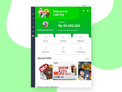 Redesign UI & UX LINE Pay