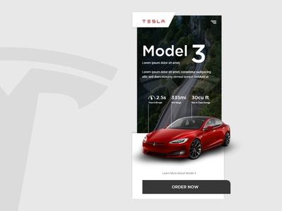 Daily UI Design - Tesla Model 3 Landing Page