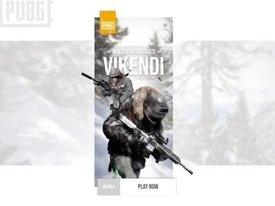 Game Apps - PUBG - Daily UI Design