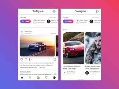 Instagram Mobile Apps - Redesign Concept #DailuUIDesign