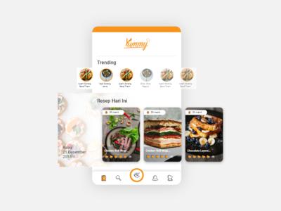 Food Recipe Mobile Apps - UI Design