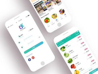 App Ui for Booking Groceries