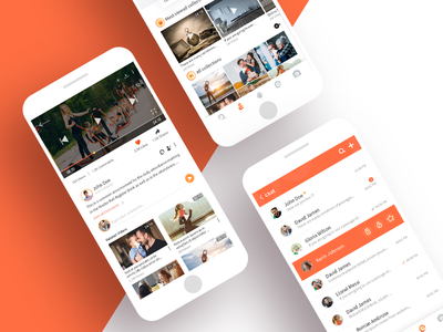 App Ui for Watch & Upload Videos