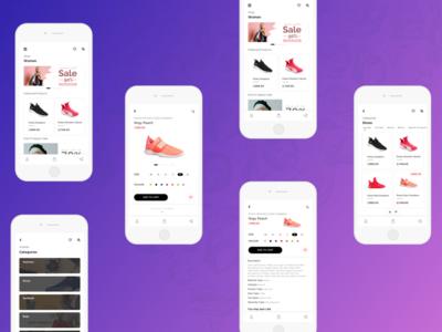 online shopping Screens