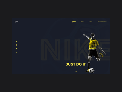 Nike - Just Do IT -  Landing Page concept