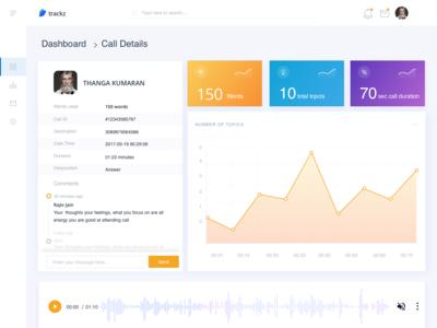 trackz - Call Tracking App Concept