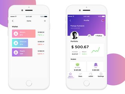 Bit coins Mobile App concept
