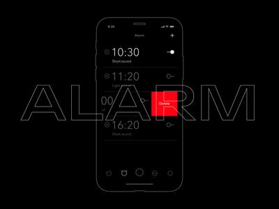 Alarm screen UI