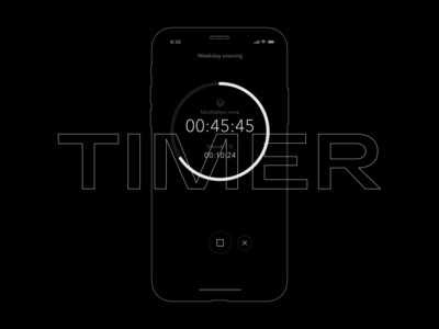Timer screen UI