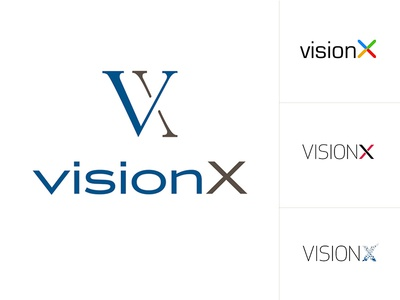 VisionX Branding ai company computer vision luxury brand logo options branding initials simple
