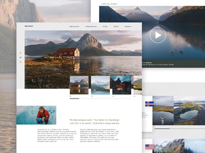 Alex Strohl // Homepage Design