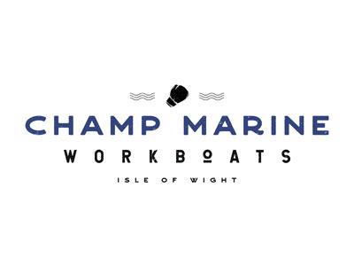 Champ Marine Workboats // Logo Design nautical isle of wight traditional branding boats workboats marine champ design graphic design logo