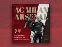 Arsenal vs AC Milan // Artwork