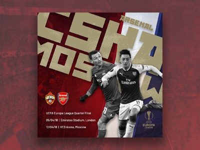 Arsenal vs CSKA Moscow // Artwork
