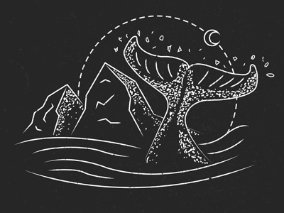 Whale & Mountains // Illustration