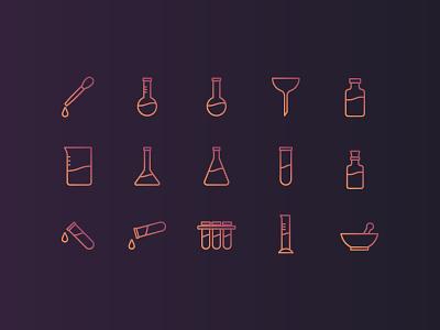 Laboratory Icon Set icon design icon set laboratory icon