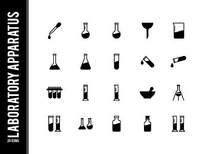 Laboratory Aparatus vector ui illustration icons icon set icon design laboratory icon
