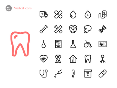 Medical Icons medical icondesign icons icon ai illustrator vector graphicdesign