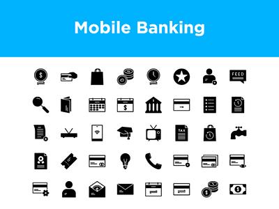 Mobile Banking Icon set icon icon design icons