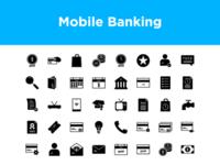 Mobile Banking Icon set