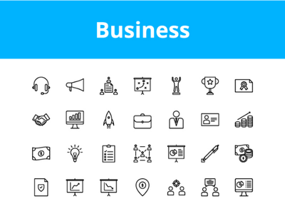 Business Icons icon set icon vector design icons
