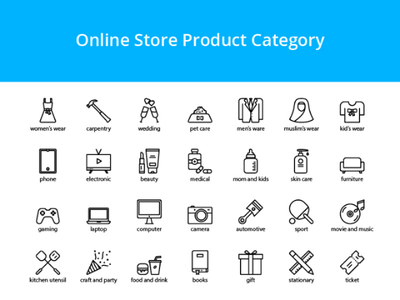 Store Product Icons vector design product store icon set icon icons