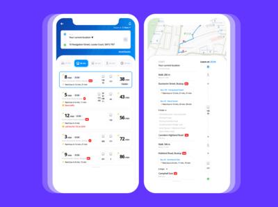 Public Transport Concept App