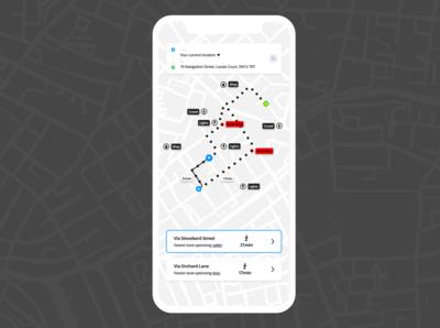 Night Mode Direction (GPS)